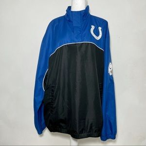 NFL Colts Spellout Logo Patch Pullover Windbreaker